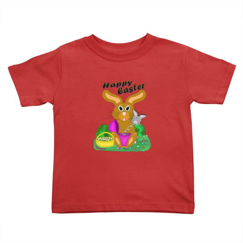 Prankster Bunny Kids Toddler T-Shirt by nicolekieferdesign's Artist Shop