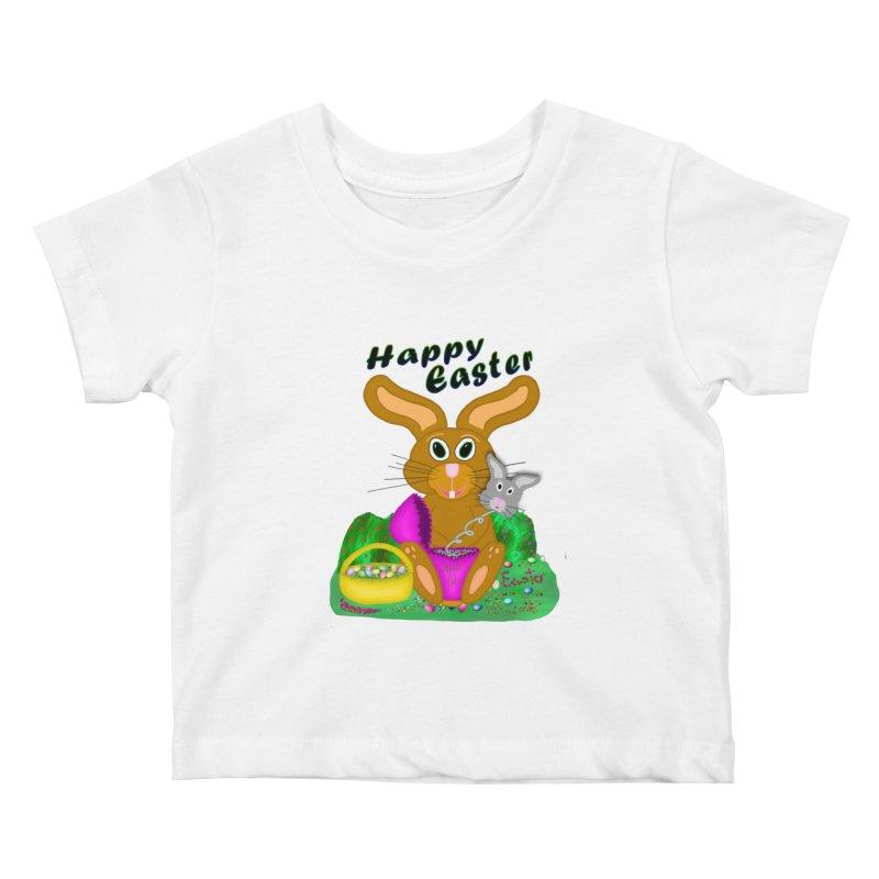 Prankster Bunny Kids Baby T-Shirt by nicolekieferdesign's Artist Shop