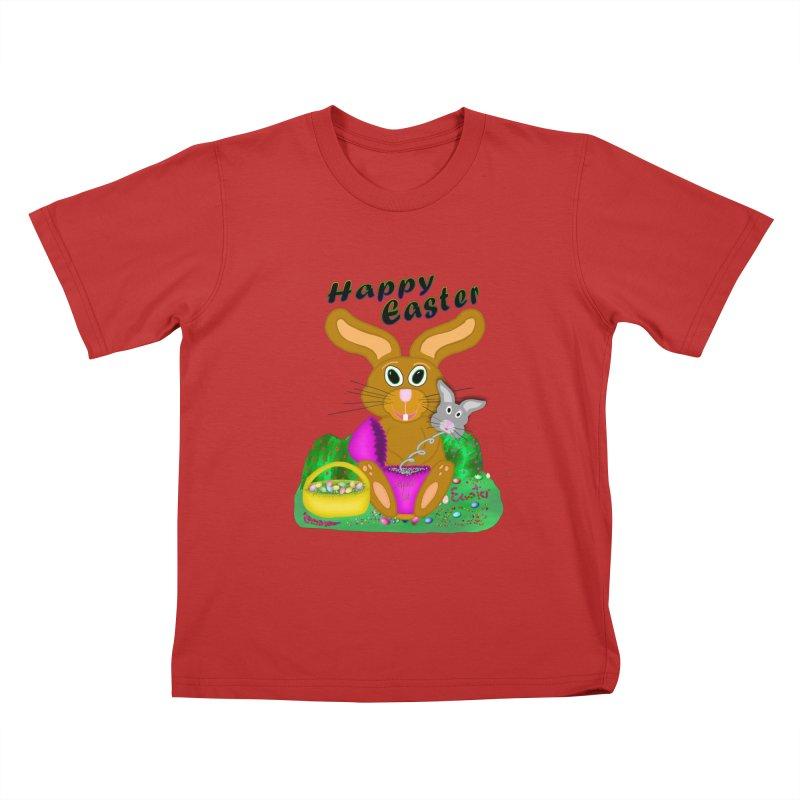 Prankster Bunny Kids T-Shirt by nicolekieferdesign's Artist Shop