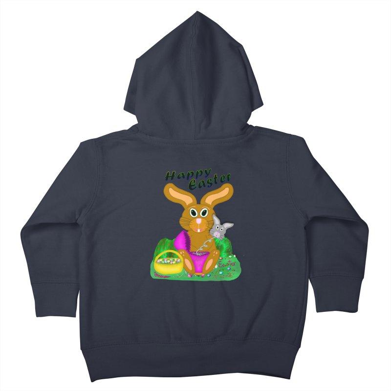 Prankster Bunny Kids Toddler Zip-Up Hoody by nicolekieferdesign's Artist Shop