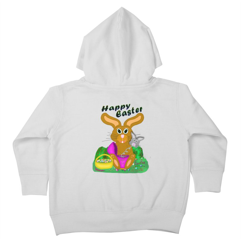 Prankster Bunny Kids Toddler Zip-Up Hoody by nicolekieferdesign's Artist Shop