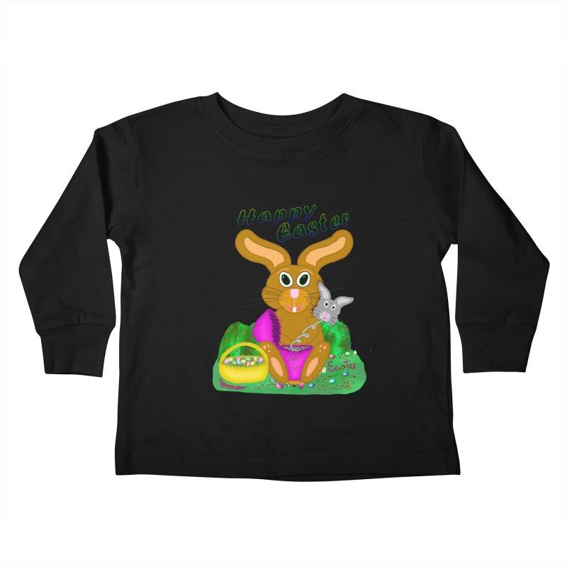 Prankster Bunny Kids Toddler Longsleeve T-Shirt by nicolekieferdesign's Artist Shop