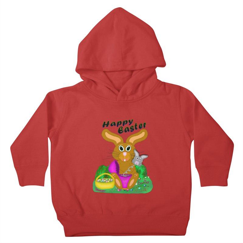 Prankster Bunny Kids Toddler Pullover Hoody by nicolekieferdesign's Artist Shop