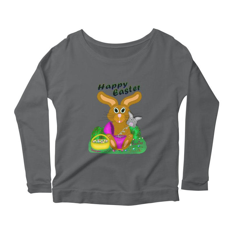 Prankster Bunny Women's Scoop Neck Longsleeve T-Shirt by nicolekieferdesign's Artist Shop