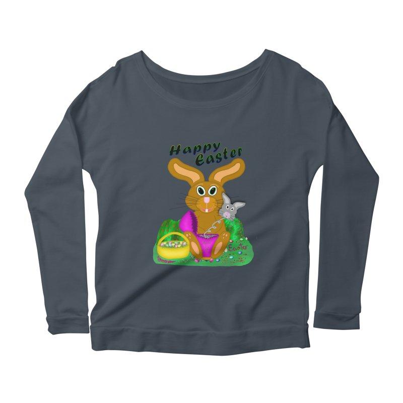 Prankster Bunny Women's Scoop Neck Longsleeve T-Shirt by nicolekieferdesign's Artist Shop