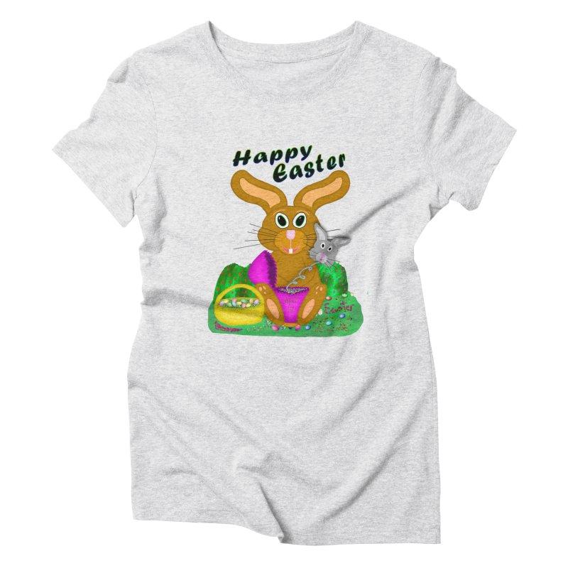 Prankster Bunny Women's Triblend T-Shirt by nicolekieferdesign's Artist Shop