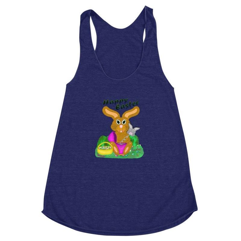 Prankster Bunny Women's Racerback Triblend Tank by nicolekieferdesign's Artist Shop