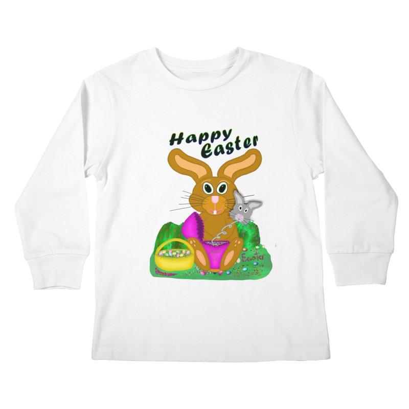 Prankster Bunny Kids Longsleeve T-Shirt by nicolekieferdesign's Artist Shop