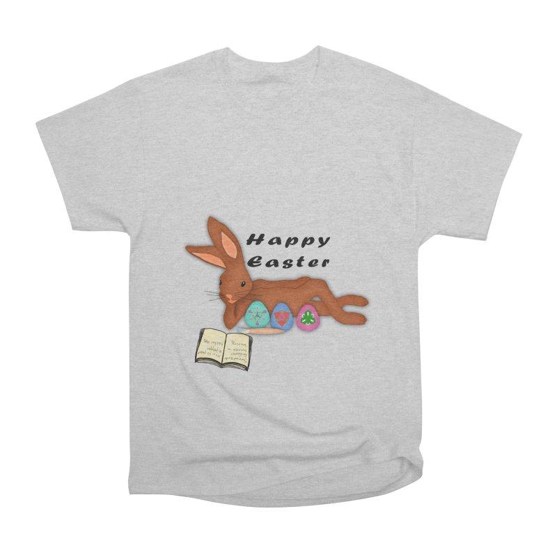 Learning Bunny Men's Heavyweight T-Shirt by nicolekieferdesign's Artist Shop