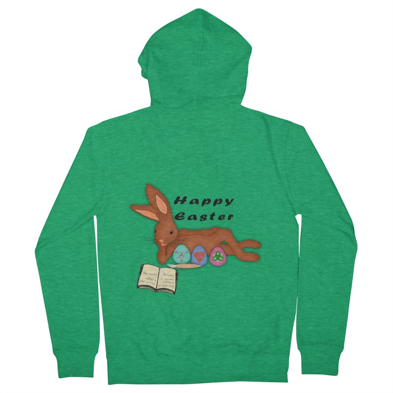 Learning Bunny Women's French Terry Zip-Up Hoody by nicolekieferdesign's Artist Shop