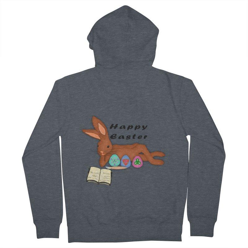 Learning Bunny Women's Zip-Up Hoody by nicolekieferdesign's Artist Shop