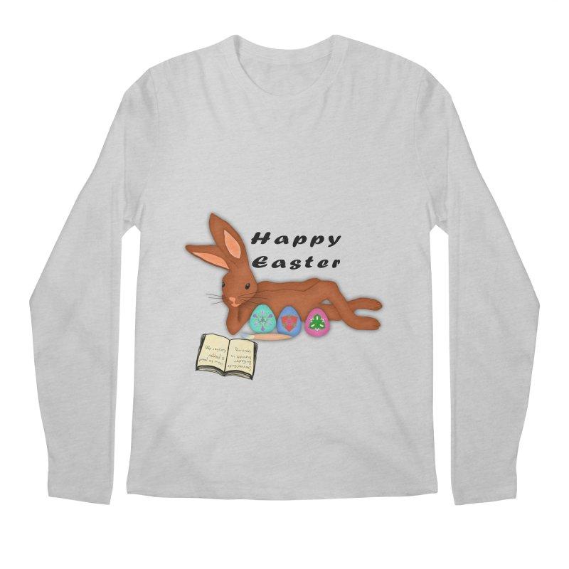 Learning Bunny Men's Longsleeve T-Shirt by nicolekieferdesign's Artist Shop