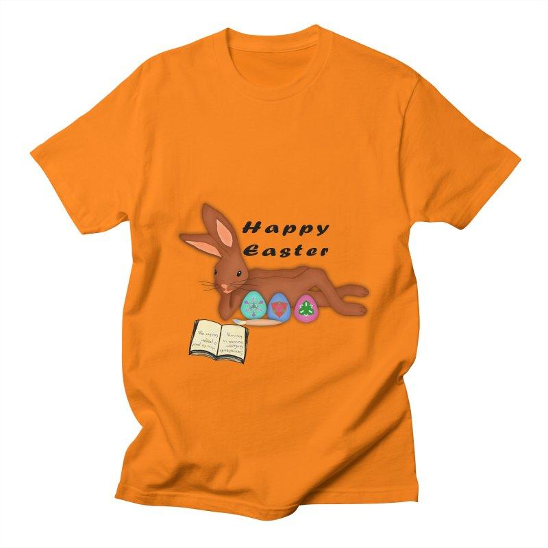 Learning Bunny Men's Regular T-Shirt by nicolekieferdesign's Artist Shop