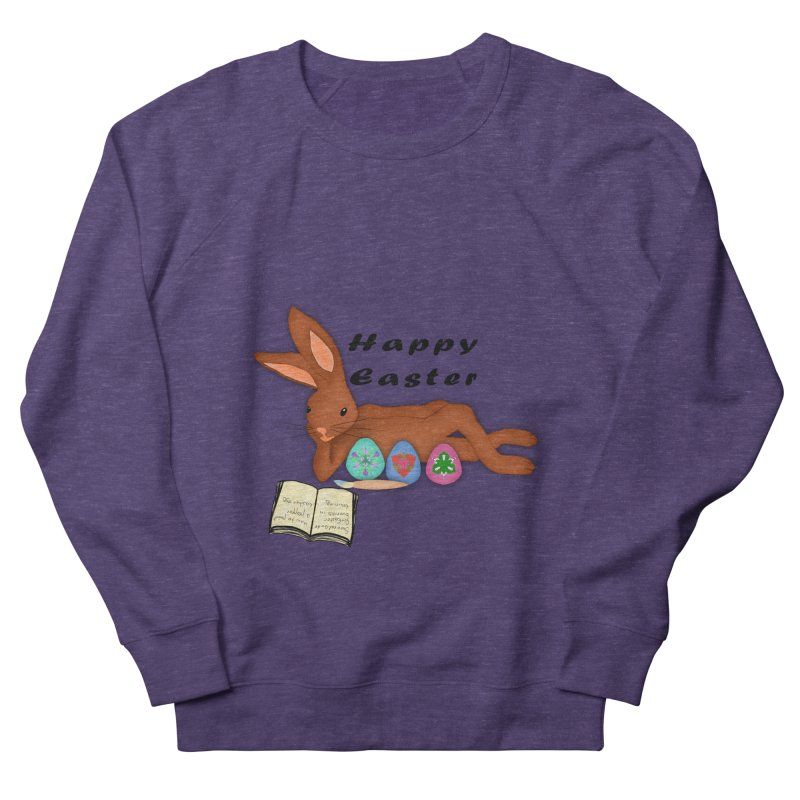 Learning Bunny Women's French Terry Sweatshirt by nicolekieferdesign's Artist Shop