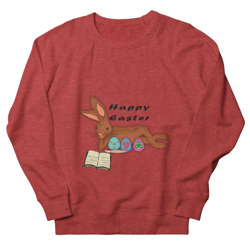 Learning Bunny Men's French Terry Sweatshirt by nicolekieferdesign's Artist Shop