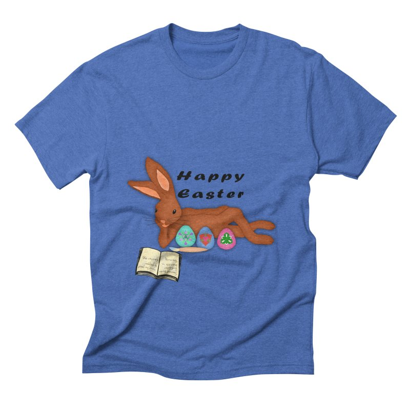 Learning Bunny Men's Triblend T-Shirt by nicolekieferdesign's Artist Shop