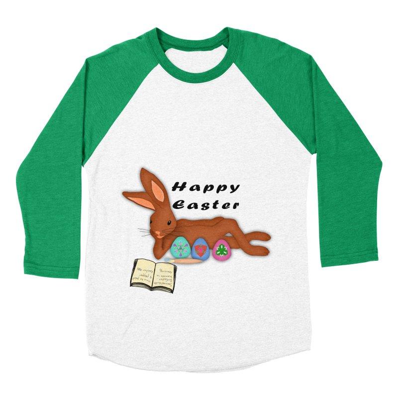 Learning Bunny Women's Baseball Triblend Longsleeve T-Shirt by nicolekieferdesign's Artist Shop