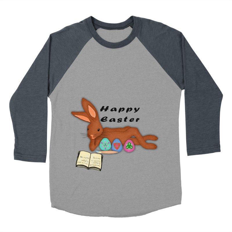 Learning Bunny Men's Baseball Triblend Longsleeve T-Shirt by nicolekieferdesign's Artist Shop