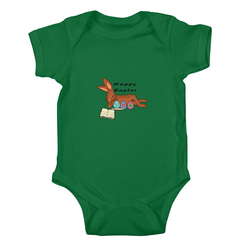 Learning Bunny Kids Baby Bodysuit by nicolekieferdesign's Artist Shop