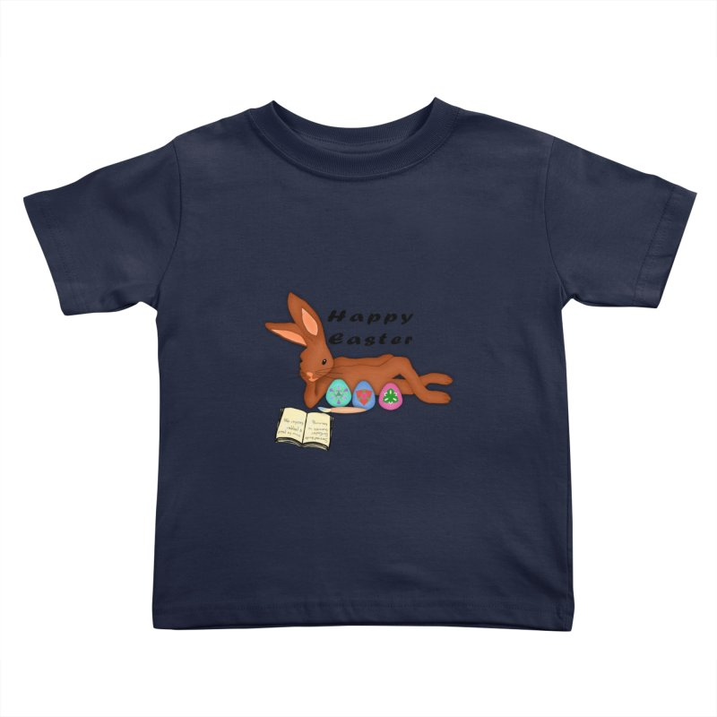 Learning Bunny Kids Toddler T-Shirt by nicolekieferdesign's Artist Shop