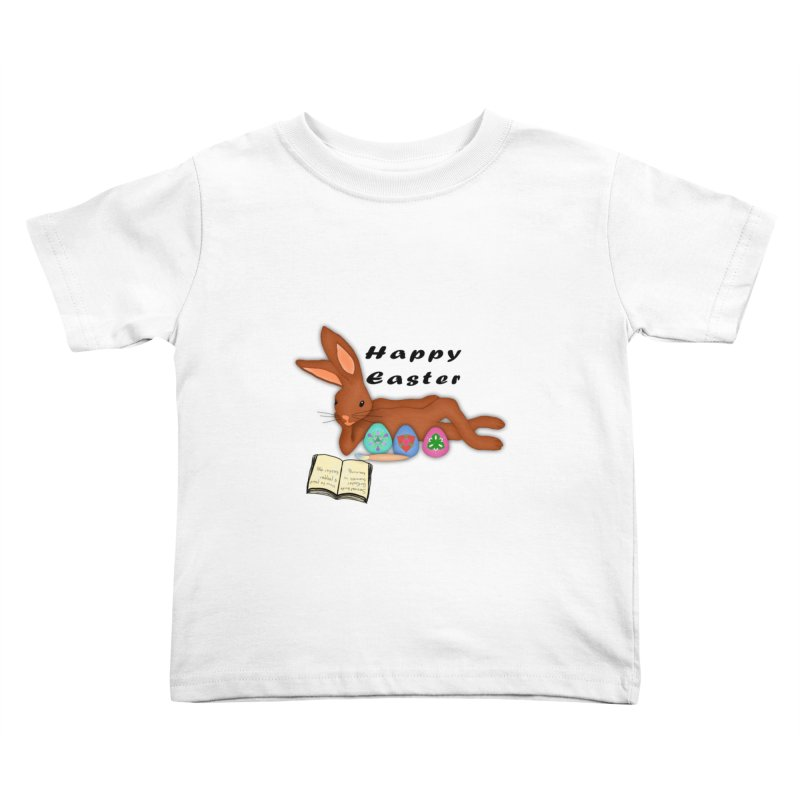Learning Bunny Kids Toddler T-Shirt by nicolekieferdesign's Artist Shop