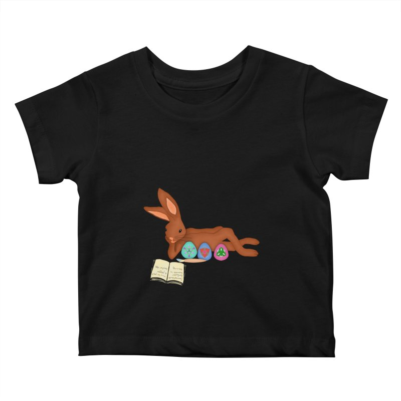 Learning Bunny Kids Baby T-Shirt by nicolekieferdesign's Artist Shop