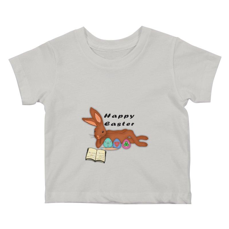 Learning Bunny Kids Baby T-Shirt by nicolekieferdesign's Artist Shop
