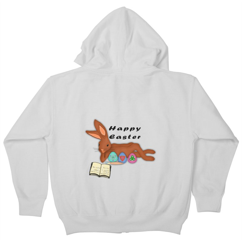 Learning Bunny Kids Zip-Up Hoody by nicolekieferdesign's Artist Shop