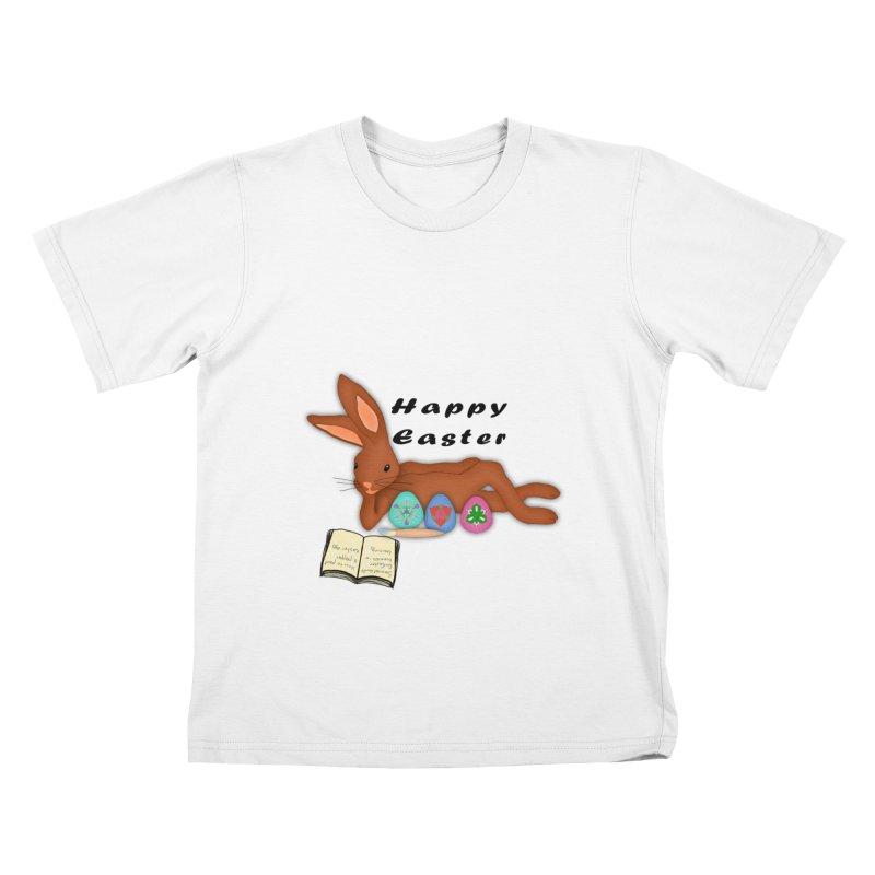 Learning Bunny Kids T-Shirt by nicolekieferdesign's Artist Shop