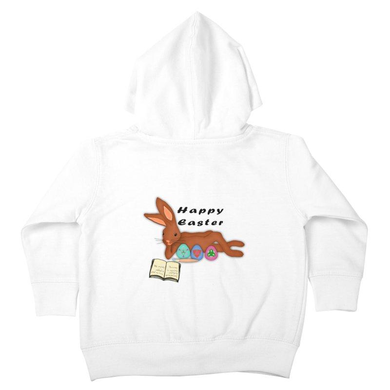 Learning Bunny Kids Toddler Zip-Up Hoody by nicolekieferdesign's Artist Shop