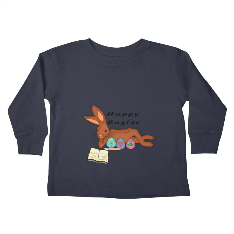 Learning Bunny Kids Toddler Longsleeve T-Shirt by nicolekieferdesign's Artist Shop