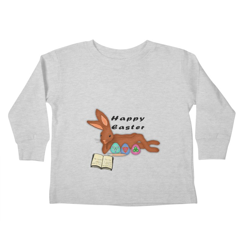 Learning Bunny Kids Toddler Longsleeve T-Shirt by nicolekieferdesign's Artist Shop