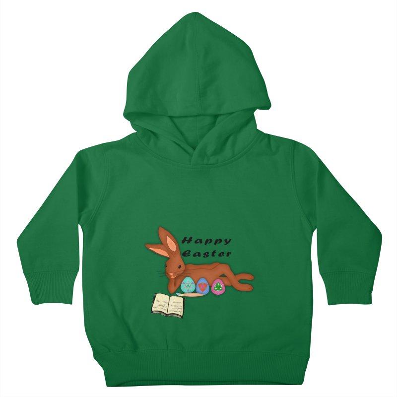 Learning Bunny Kids Toddler Pullover Hoody by nicolekieferdesign's Artist Shop