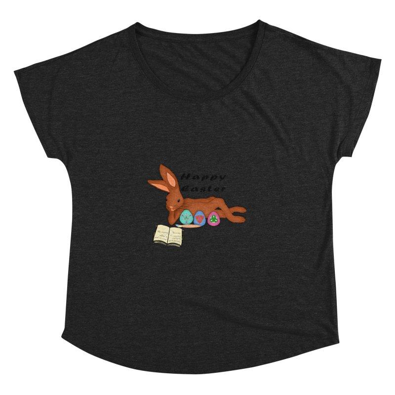 Learning Bunny Women's Dolman Scoop Neck by nicolekieferdesign's Artist Shop