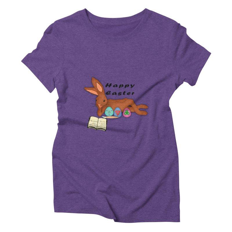 Learning Bunny Women's Triblend T-Shirt by nicolekieferdesign's Artist Shop
