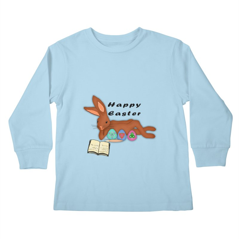 Learning Bunny Kids Longsleeve T-Shirt by nicolekieferdesign's Artist Shop