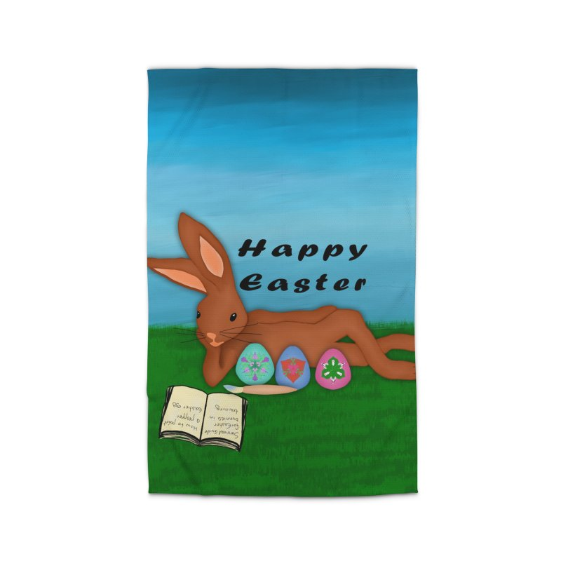 Easter bunny in training Home Rug by nicolekieferdesign's Artist Shop