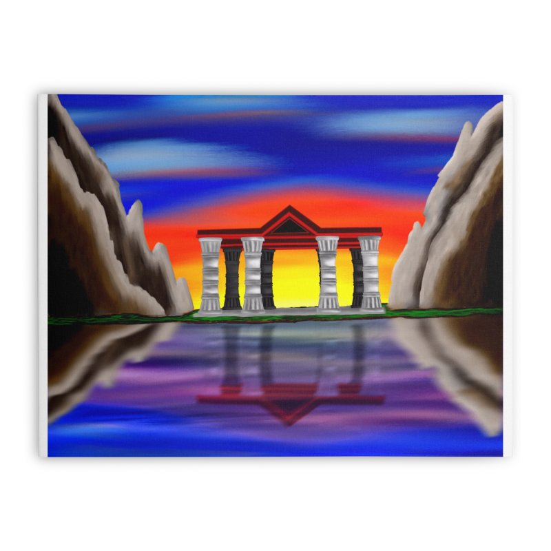 The Temple Home Stretched Canvas by nicolekieferdesign's Artist Shop