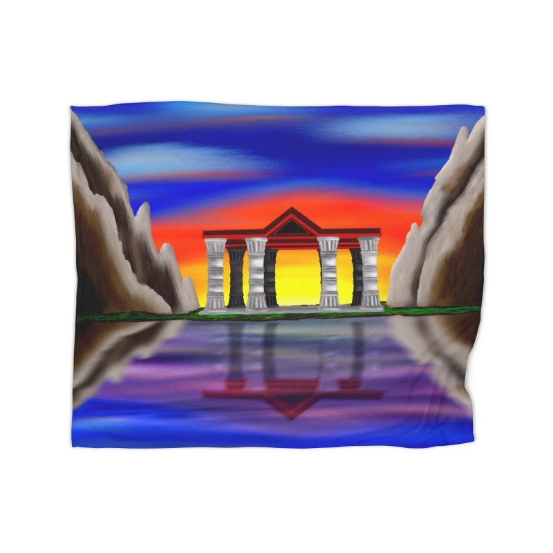 The Temple Home Blanket by nicolekieferdesign's Artist Shop