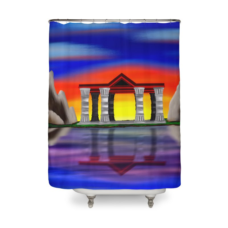 The Temple Home Shower Curtain by nicolekieferdesign's Artist Shop