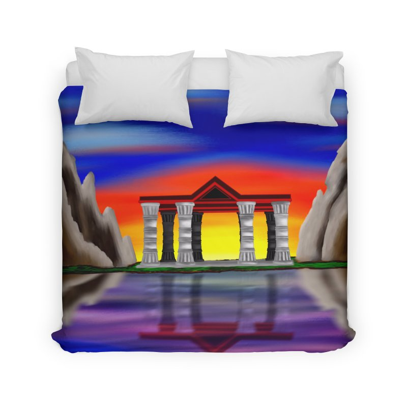 The Temple Home Duvet by nicolekieferdesign's Artist Shop