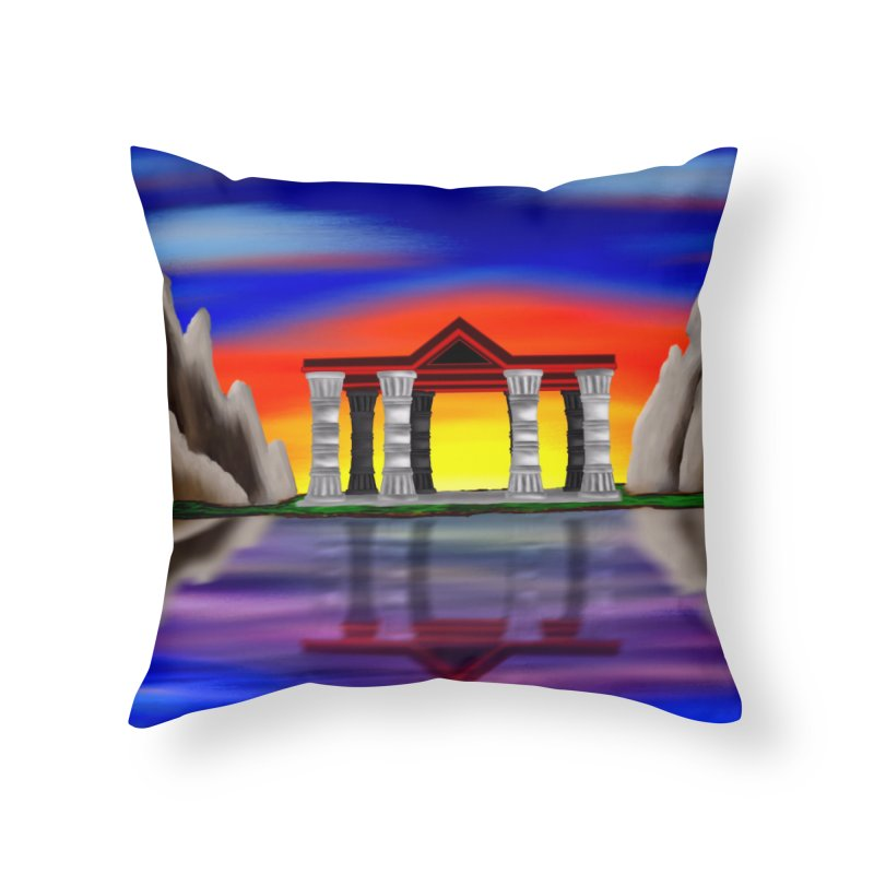 The Temple Home Throw Pillow by nicolekieferdesign's Artist Shop