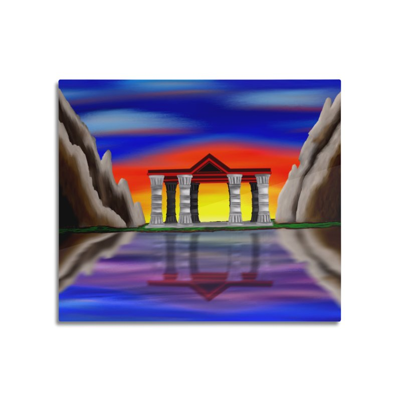 The Temple Home Mounted Aluminum Print by nicolekieferdesign's Artist Shop