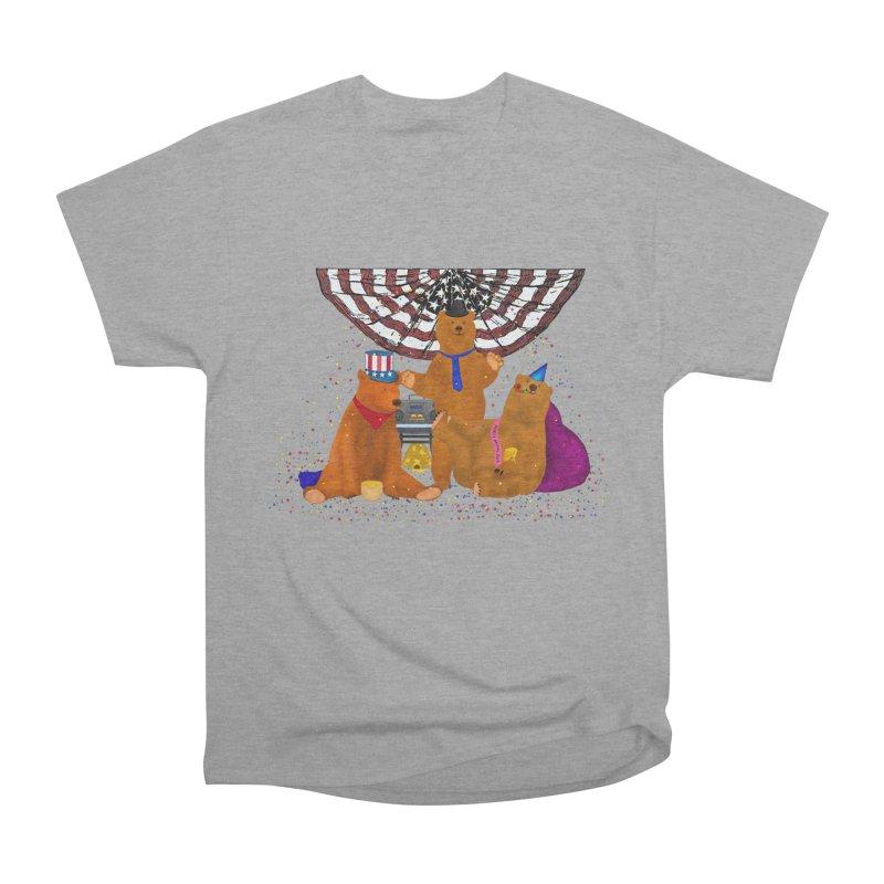 Bear Party Women's Heavyweight Unisex T-Shirt by nicolekieferdesign's Artist Shop
