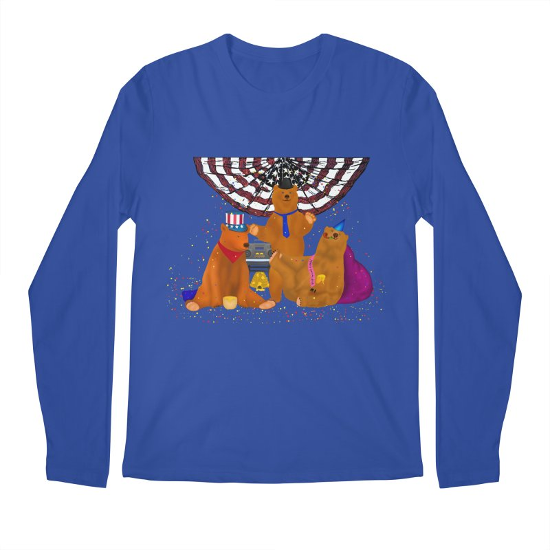 Bear Party Men's Regular Longsleeve T-Shirt by nicolekieferdesign's Artist Shop