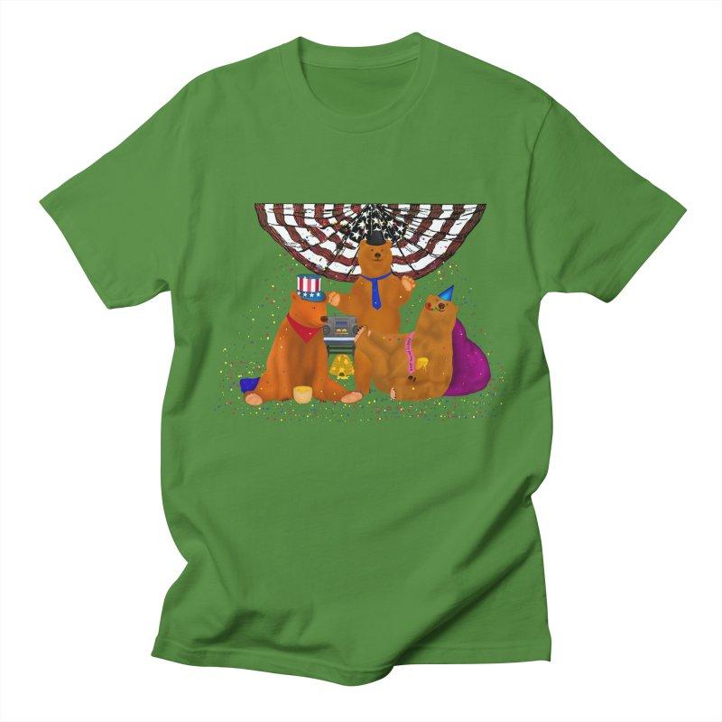 Bear Party Women's Regular Unisex T-Shirt by nicolekieferdesign's Artist Shop