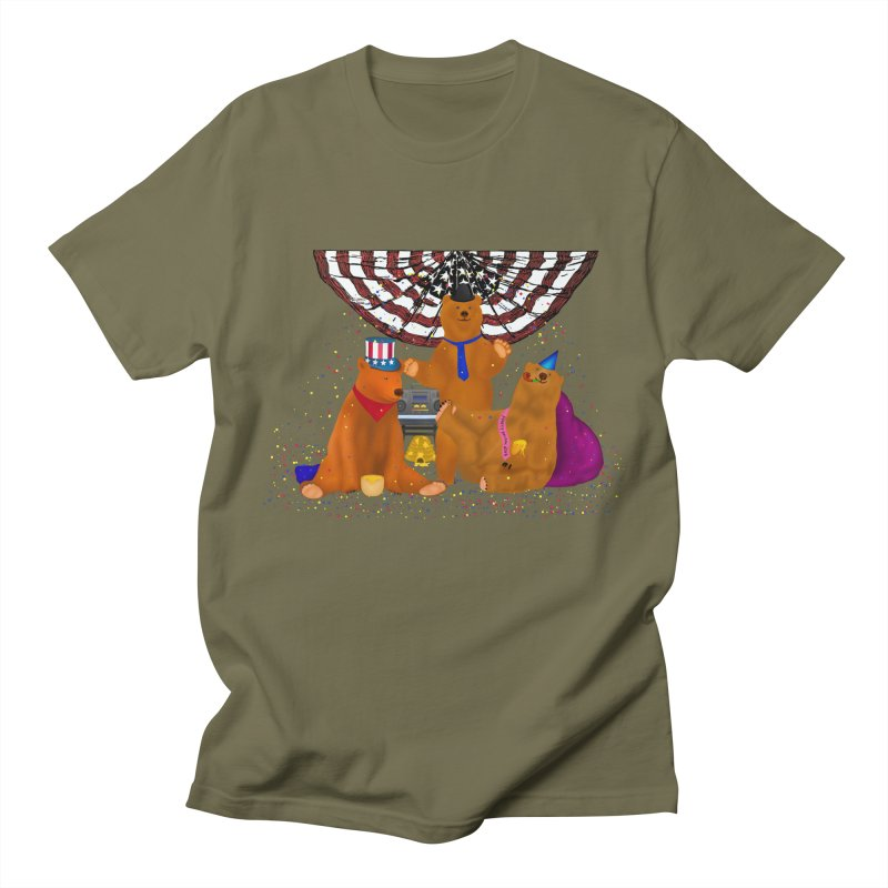 Bear Party Women's Unisex T-Shirt by nicolekieferdesign's Artist Shop