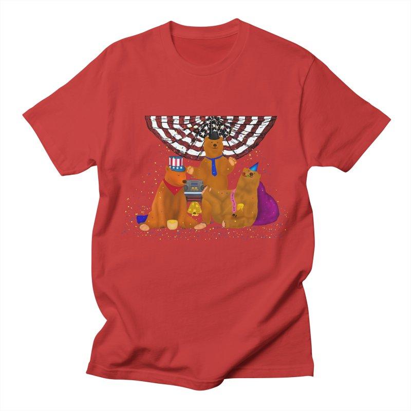 Bear Party Men's T-Shirt by nicolekieferdesign's Artist Shop