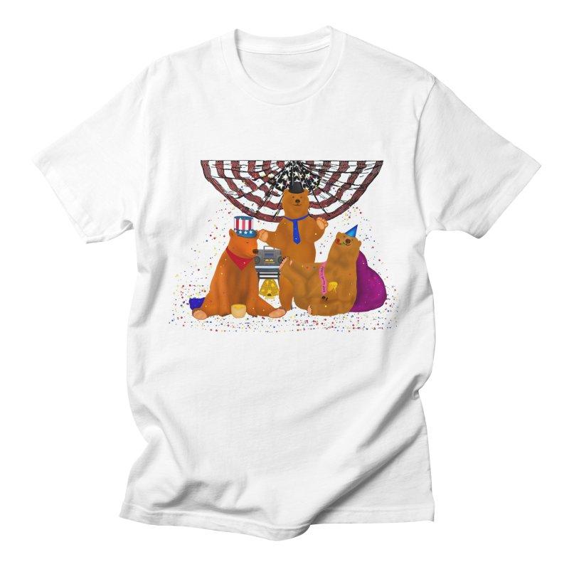 Bear Party Men's Regular T-Shirt by nicolekieferdesign's Artist Shop