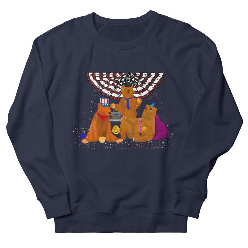 Bear Party Women's French Terry Sweatshirt by nicolekieferdesign's Artist Shop